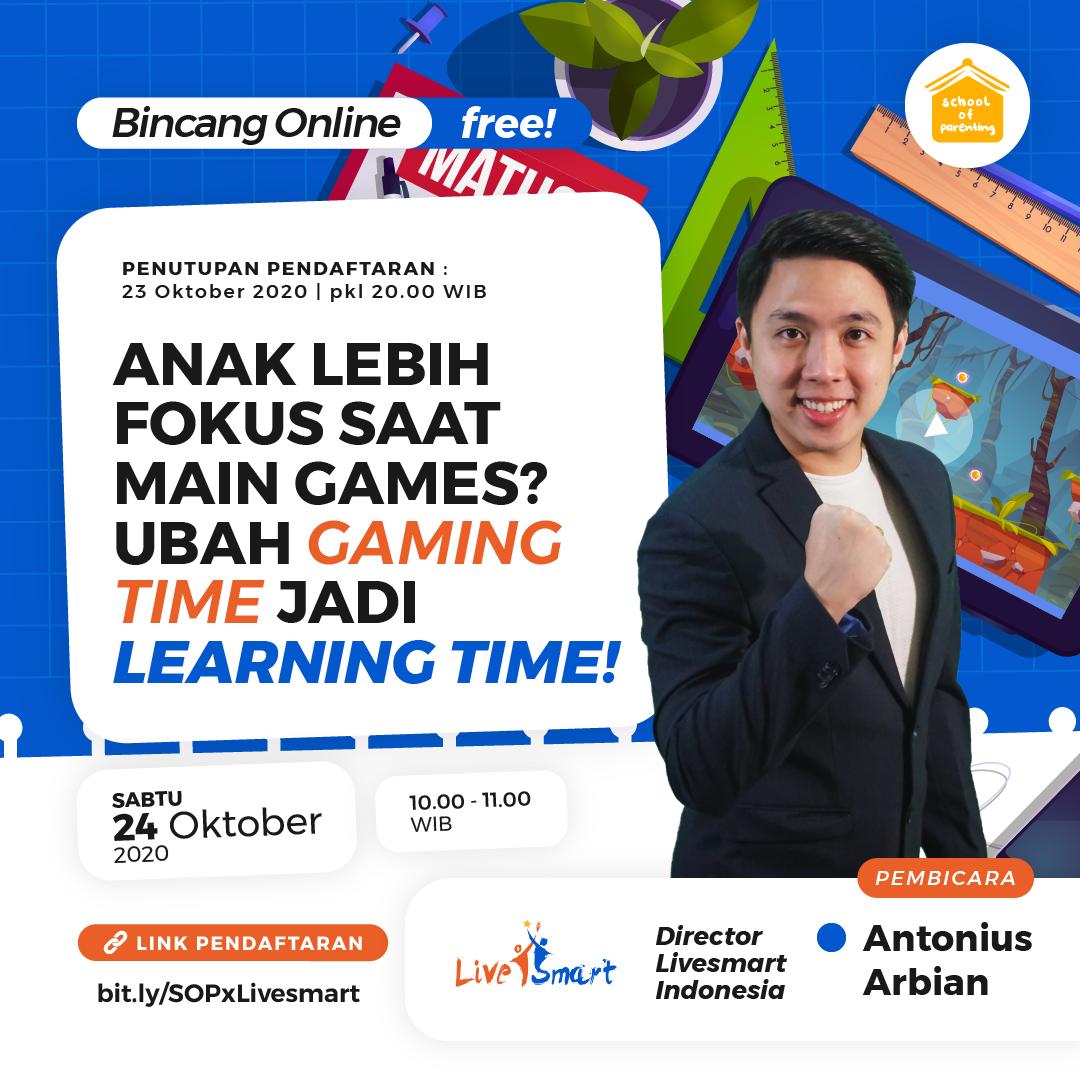 Workshop SOP - Anak Lebih Fokus Saat Main Games? Ubah Gaming Time jadi Learning Time