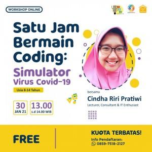 Satu Jam Bermain Coding: Simulator Virus Covid-19