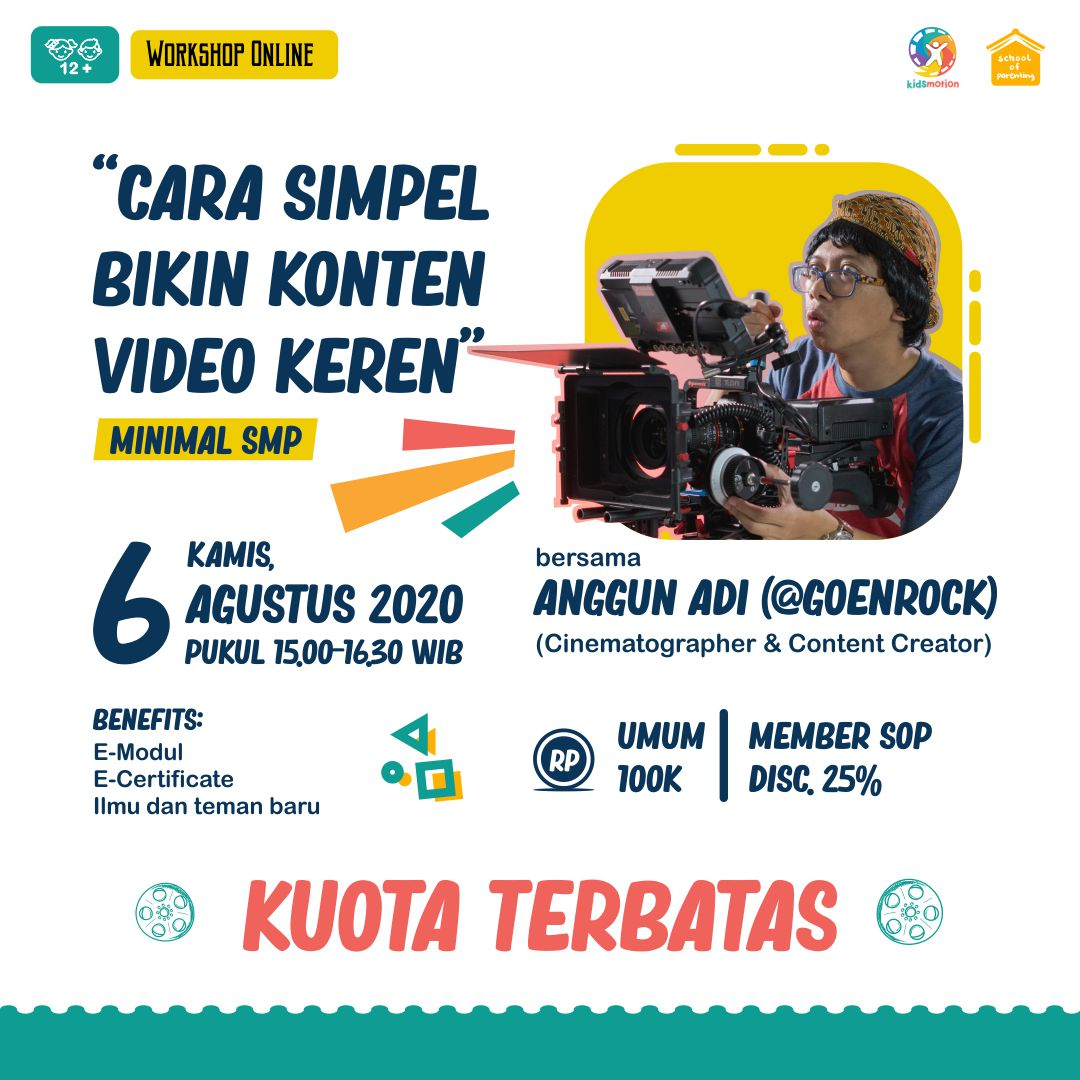 Workshop SOP - Cara Simple Bikin Konten Video Keren  Di Rumah